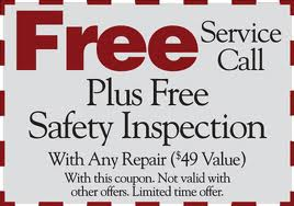Free Service Call and Safty Inspection Coupon
