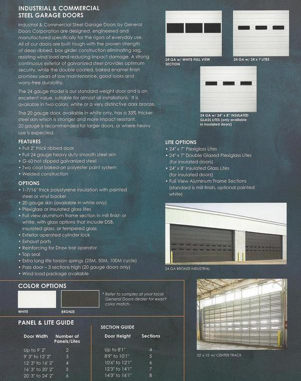 Commercial Garage Door Panels