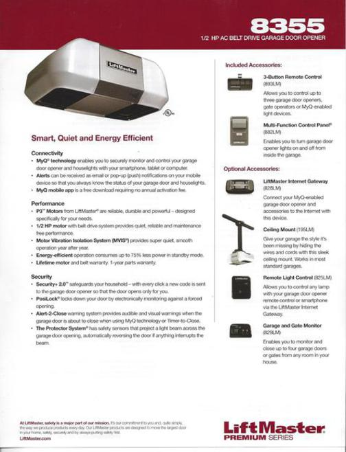 Garage Door Opener 8355 Accessories