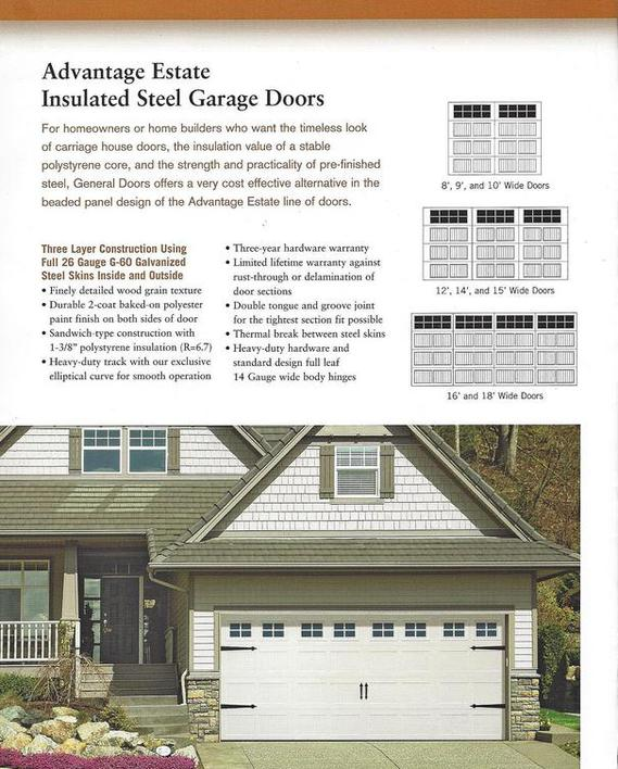Estate Insulated Garage Door